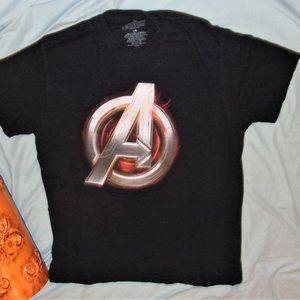 Marvel comic avengers black mens tee shirt large